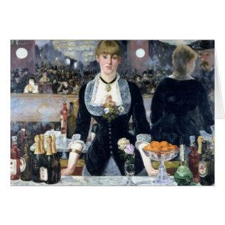 A Bar At The Folies Bergere Greeting Card