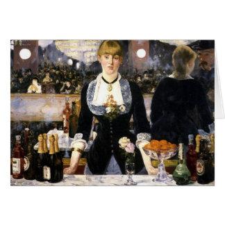 A bar at the Folies-Bergère Card