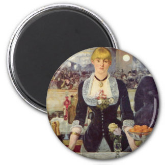 A Bar at the Folies-Bergère - Edouard Manet 2 Inch Round Magnet