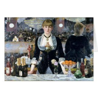 A Bar at the Folies Bergère, Édouard Manet Greeting Card