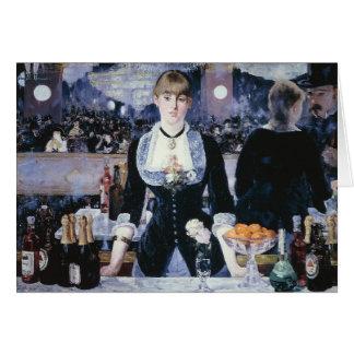 A Bar at the Folies-Bergère - Edouard Manet Greeting Cards