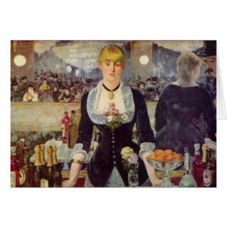 A Bar at the Folies-Bergère - Edouard Manet Cards