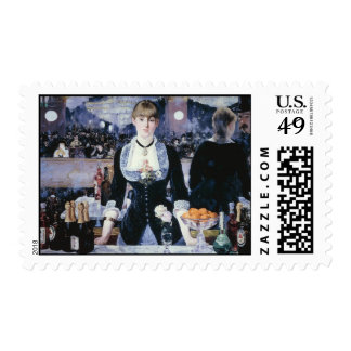 A Bar at the Folies-Bergère - Edouard Manet Postage Stamp