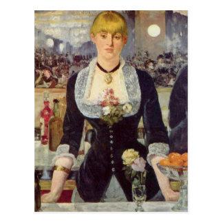 A Bar at the Folies-Bergère - Edouard Manet Post Card