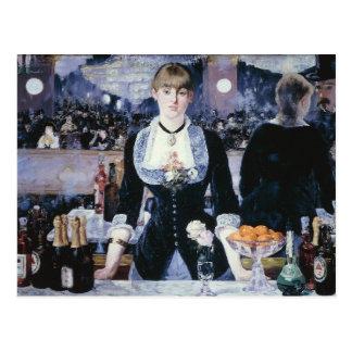 A Bar at the Folies-Bergère - Edouard Manet Postcards