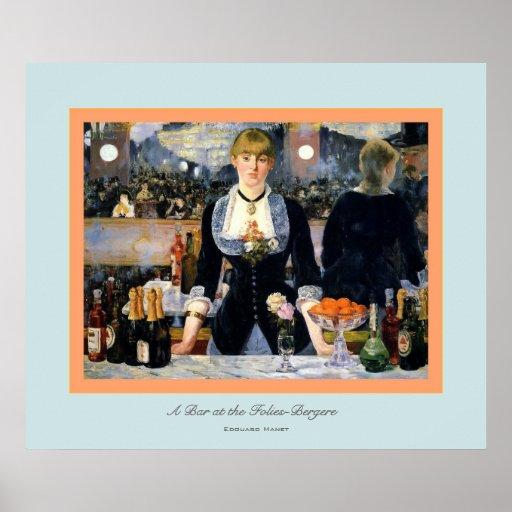 A Bar at the Folies-Bergere ~ Edouard Manet Poster