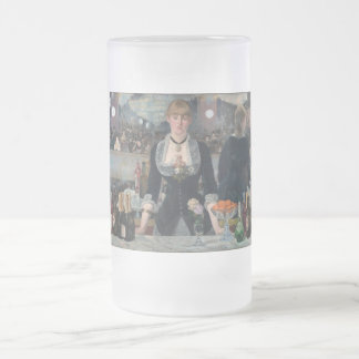 A Bar at the Folies-Bergère Frosted Glass Beer Mug