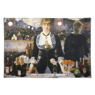 A bar at the Folies-Bergère Placemat