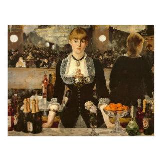 A Bar at the Folies-Bergere Postcard
