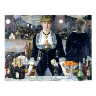 A Bar At The Folies Bergere Postcard
