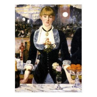 A bar at the Folies-Bergère Postcard