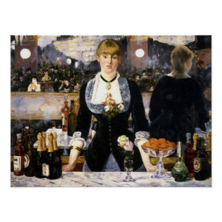 A bar at the Folies-Bergere Print