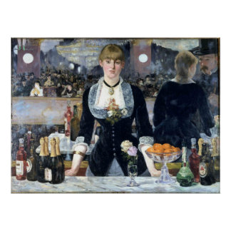 A Bar At The Folies Bergere Posters
