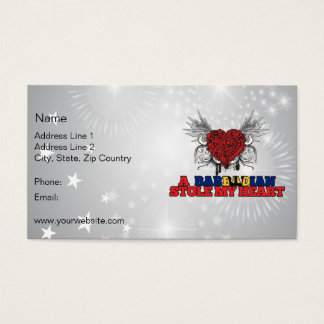 A Barbadian Stole my Heart Business Card