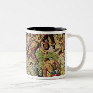 A Barbarian Celebration Two-Tone Coffee Mug
