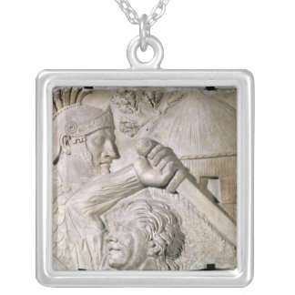 A Barbarian fighting a Roman legionary Silver Plated Necklace