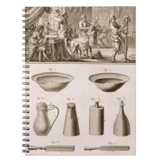 A barbershop and barber tools, from the 'Encyclope Notebook