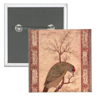 A Barbet  Jahangir Period, Mughal, 1615 2 Inch Square Button