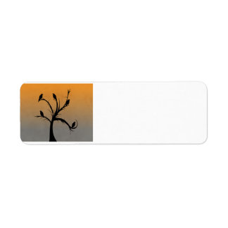 A Bare Tree with Silhouettes of Crows Custom Return Address Labels