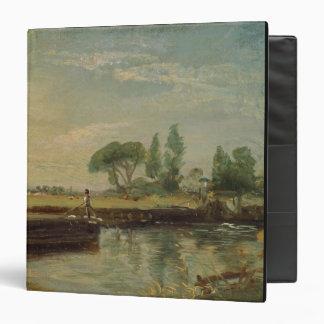 A Barge below Flatford Lock, c.1810 (oil on canvas Binder