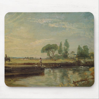 A Barge below Flatford Lock, c.1810 (oil on canvas Mouse Pad