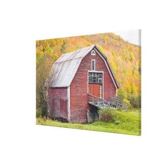 A barn in Vermont's Green Mountains. Hancock, 2 Canvas Print