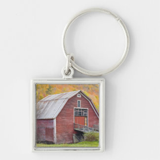 A barn in Vermont's Green Mountains. Hancock, 2 Keychain
