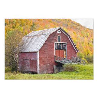 A barn in Vermont's Green Mountains. Hancock, 2 Photo Print