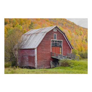 A barn in Vermont's Green Mountains. Hancock, 2 Poster