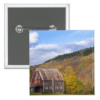 A barn in Vermont's Green Mountains. Hancock, 3 Button