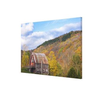 A barn in Vermont's Green Mountains. Hancock, 3 Canvas Print