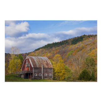 A barn in Vermont's Green Mountains. Hancock, 3 Poster