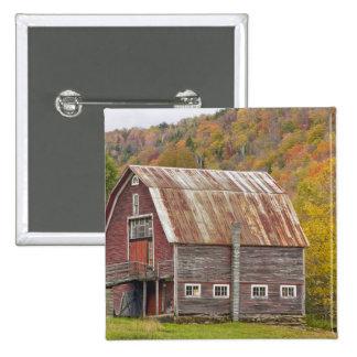 A barn in Vermont's Green Mountains. Hancock, Pinback Button