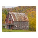 A barn in Vermont's Green Mountains. Hancock, Postcard