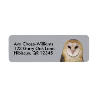 A Barn Owl Beauty Label
