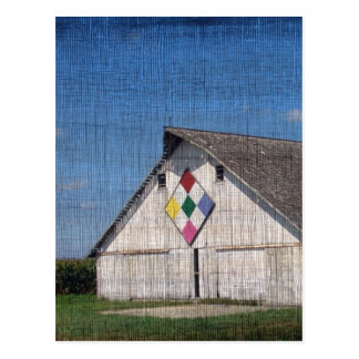 A Barn With A Quilt Postcard