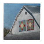 A Barn With Two Quilts Tile