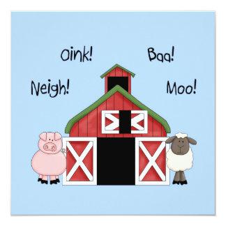 A Barnyard Birthday - Farm-themed Invitation