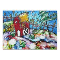 A Barnyard Christmas Card