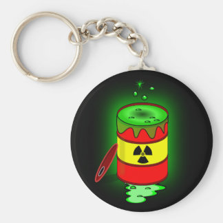 A Barrel of Toxic Waste. Basic Round Button Keychain