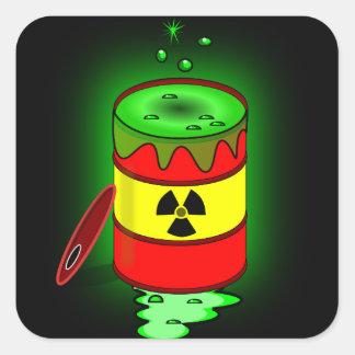 A Barrel of Toxic Waste. Square Sticker