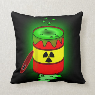 A Barrel of Toxic Waste. Throw Pillow