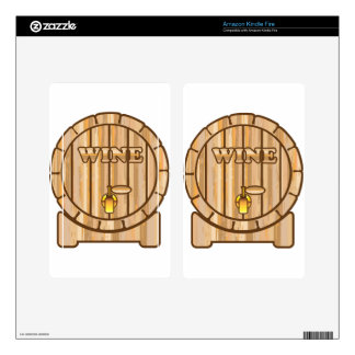 A barrel of Wine Kindle Fire Decals