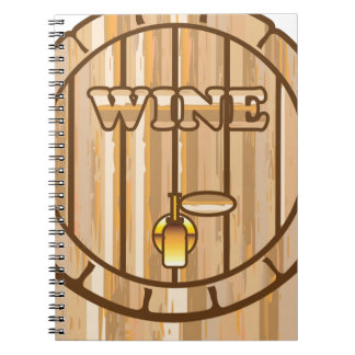 A barrel of Wine Spiral Notebook