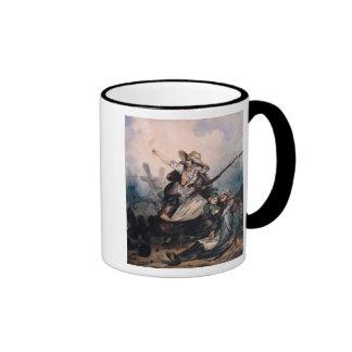 A Barricade in 1830, 1834 Ringer Coffee Mug