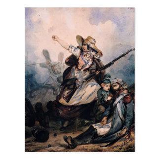 A Barricade in 1830, 1834 Postcard