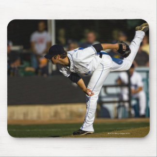 A baseball playing throwing the ball mouse pad