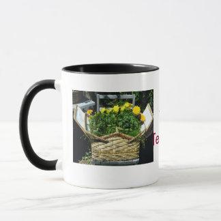 A Basket Flower Coffee Mug