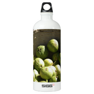 A basket full of guavas water bottle
