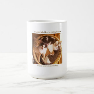 A basket full of love is waiting for you... coffee mug